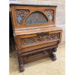 An H & G Presberg French cafe piano, length 102cm, depth 65cm, height 145cm