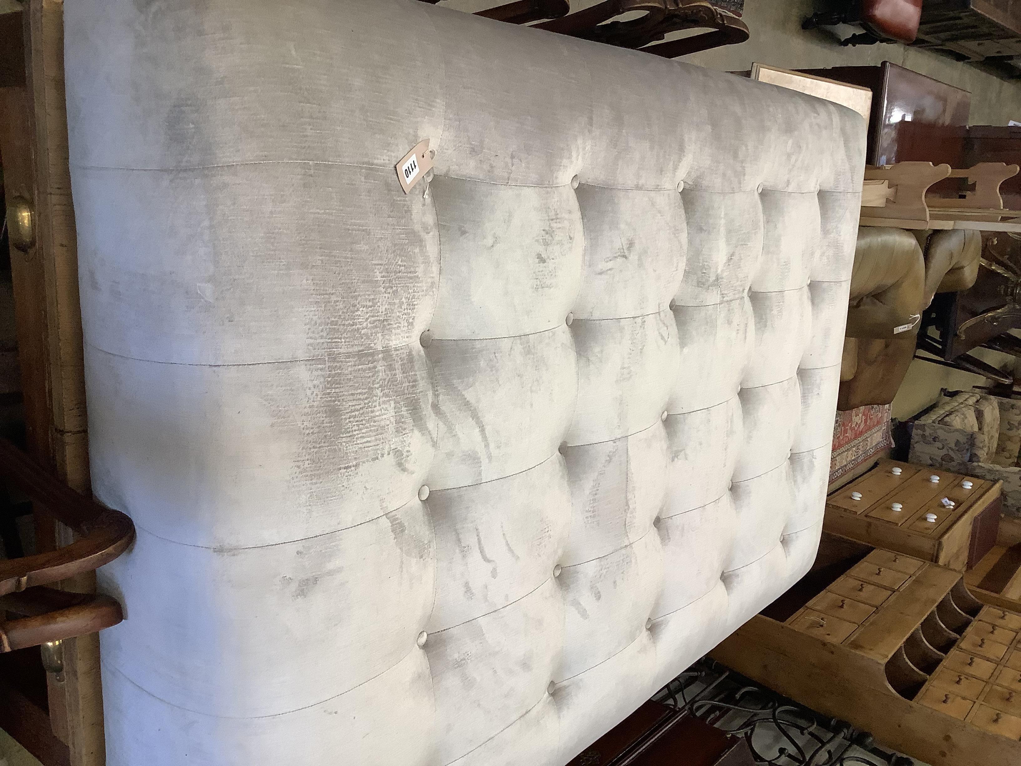 A designer Latorre Furniture large rectangular upholstered footstool, length 175cm, depth 110cm, - Image 2 of 2