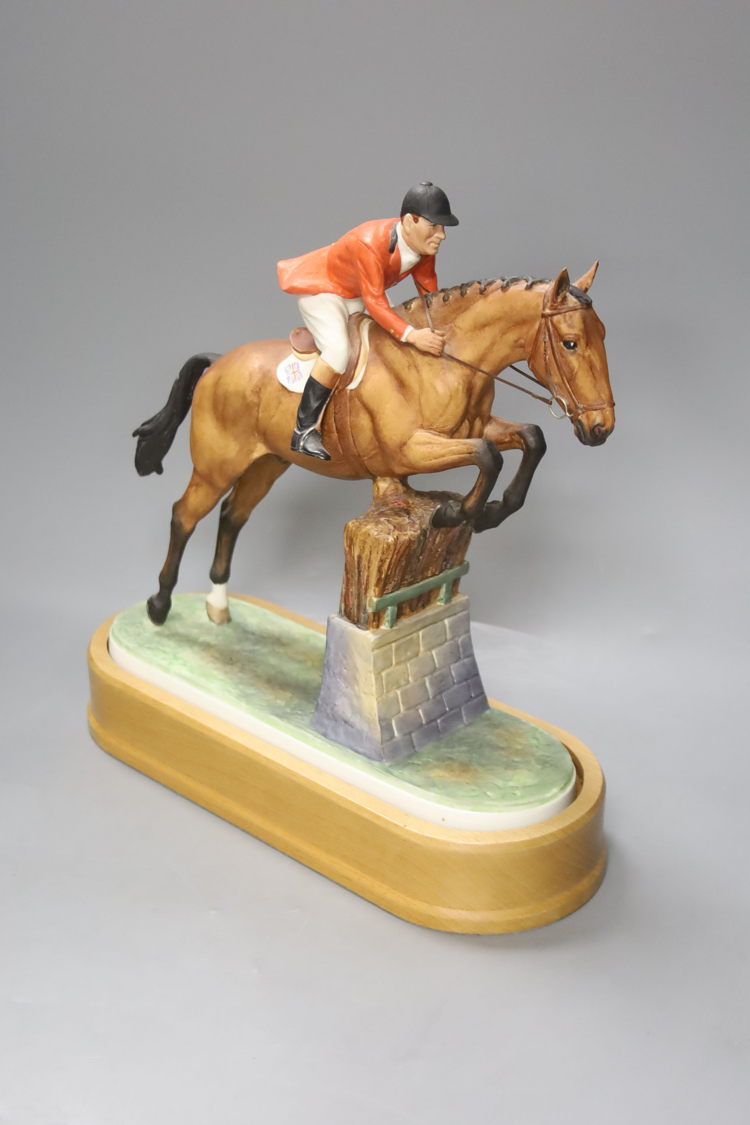Doris Lindner for Royal Worcester, a limited edition figure, 'Foxhunter and Lt. Col. H M Llewellyn - Image 2 of 4