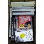 ° A quantity of hardback books on various subjects,including Sussex, The Rolling Stones, The Beach