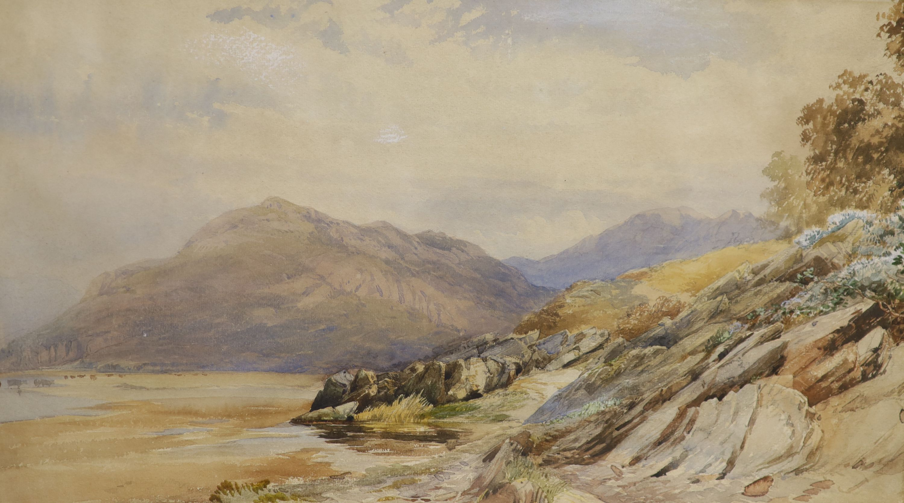 David Hall McKewan (1816-1873), pair of watercolours, A Valley in North Wales and a companion - Image 3 of 3
