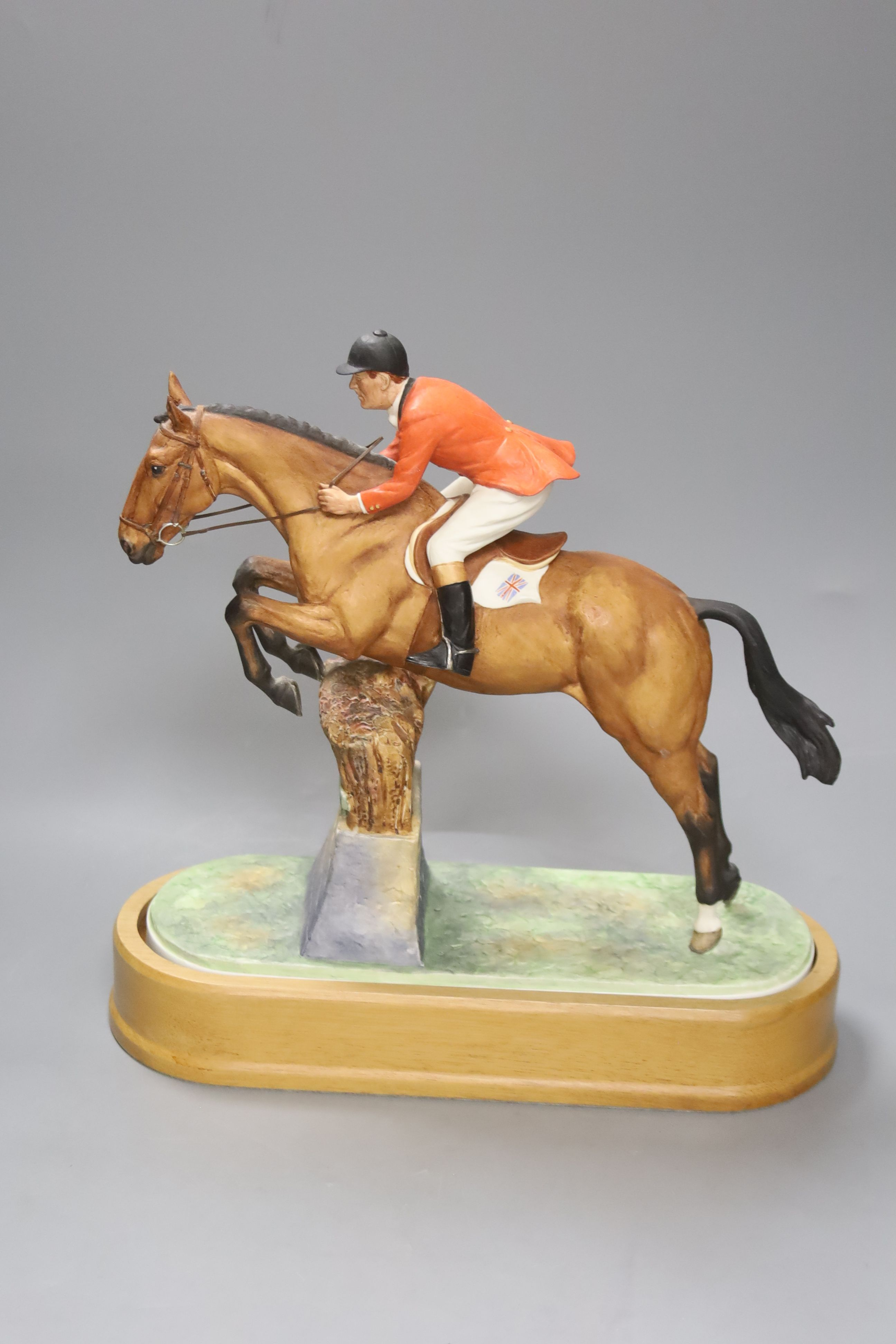 Doris Lindner for Royal Worcester, a limited edition figure, 'Foxhunter and Lt. Col. H M Llewellyn - Image 3 of 4