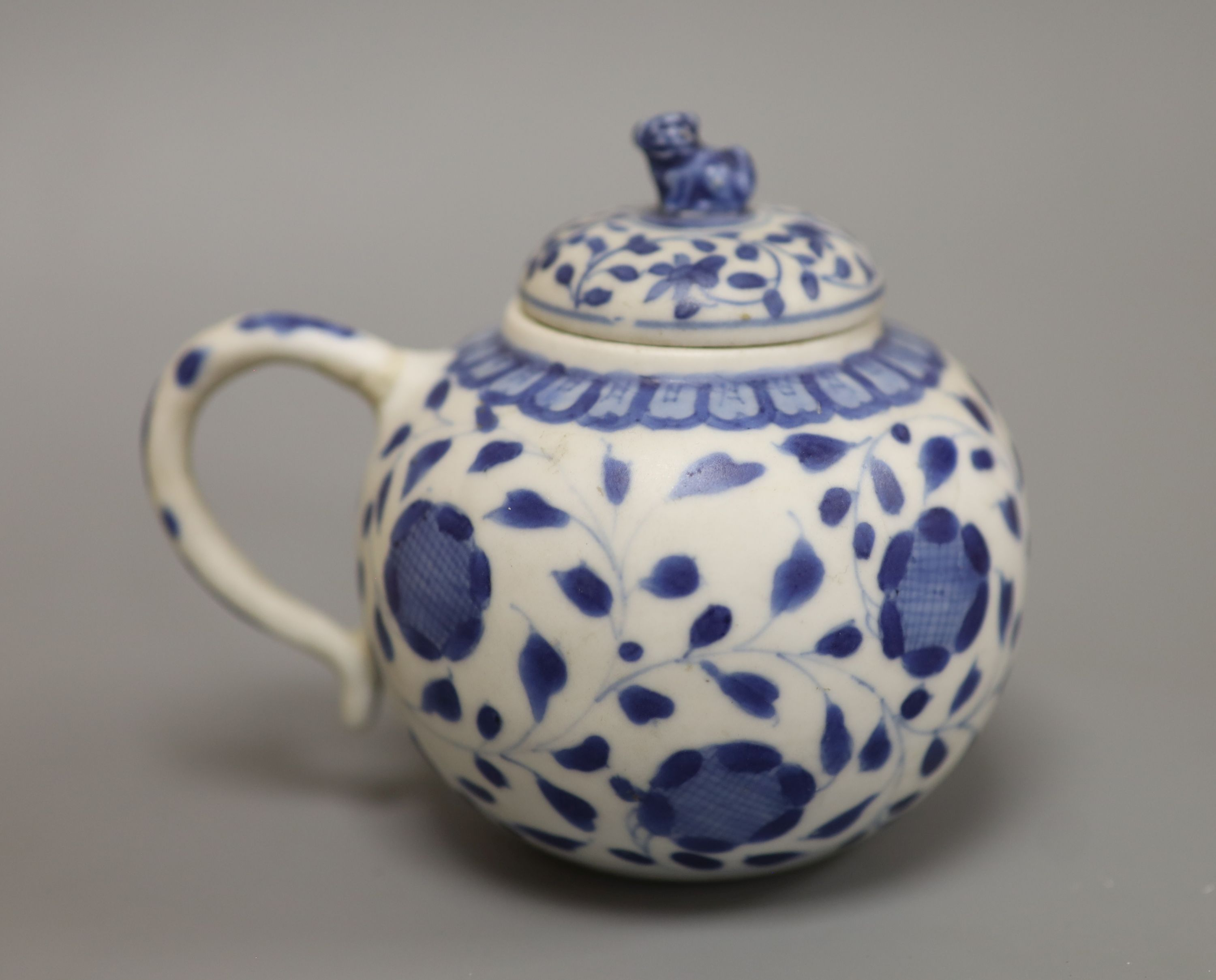 A Chinese Vungtao cargo blue and white mustard pot and cover, height 9cm - Image 2 of 7