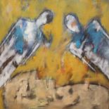 Muriel Ferstenberg (b.1966), oil on canvas, Untitled, 80 x 80cm