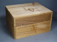 A case of six Penfolds Grange 2002, in wooden box.