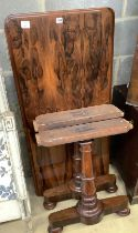 A Victorian rosewood centre table (no fixing bolts), width 122cm, depth 58cm, height 68cm