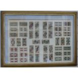 Framed 19th century playing cards