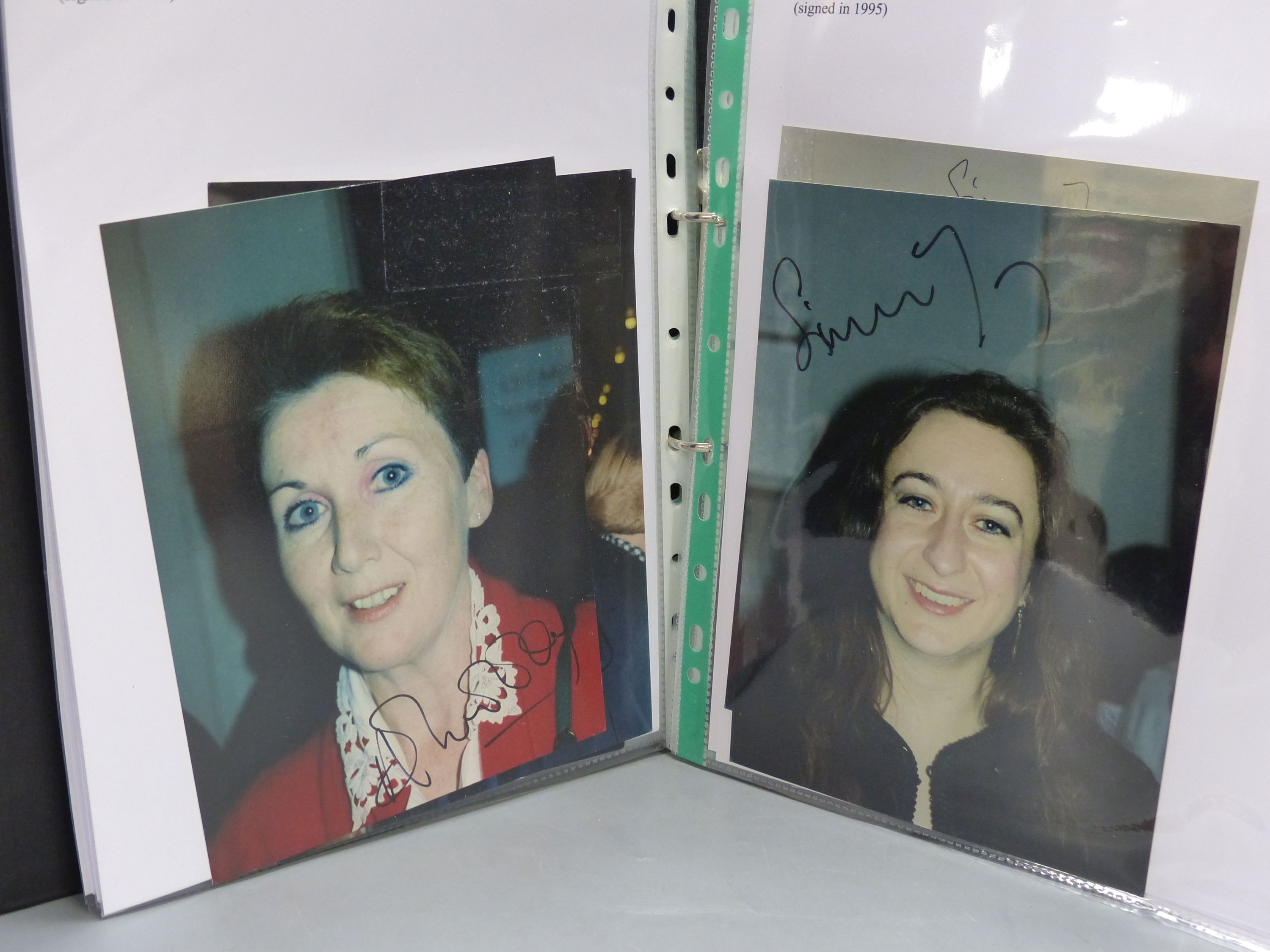 Album of more than 100 signed photographs of classical music singers, instrumentalists and - Image 2 of 2