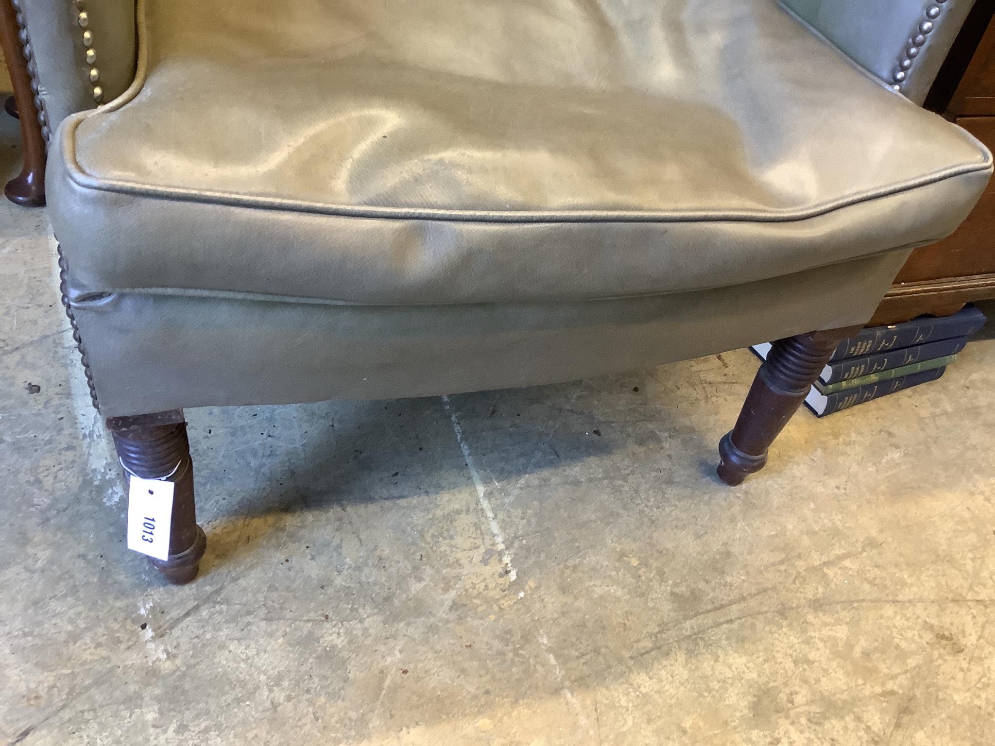 A Regency tub framed wing armchair, width 74cm, depth 53cm, height 111cm - Image 5 of 5