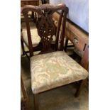 A set of six George III mahogany dining chairs