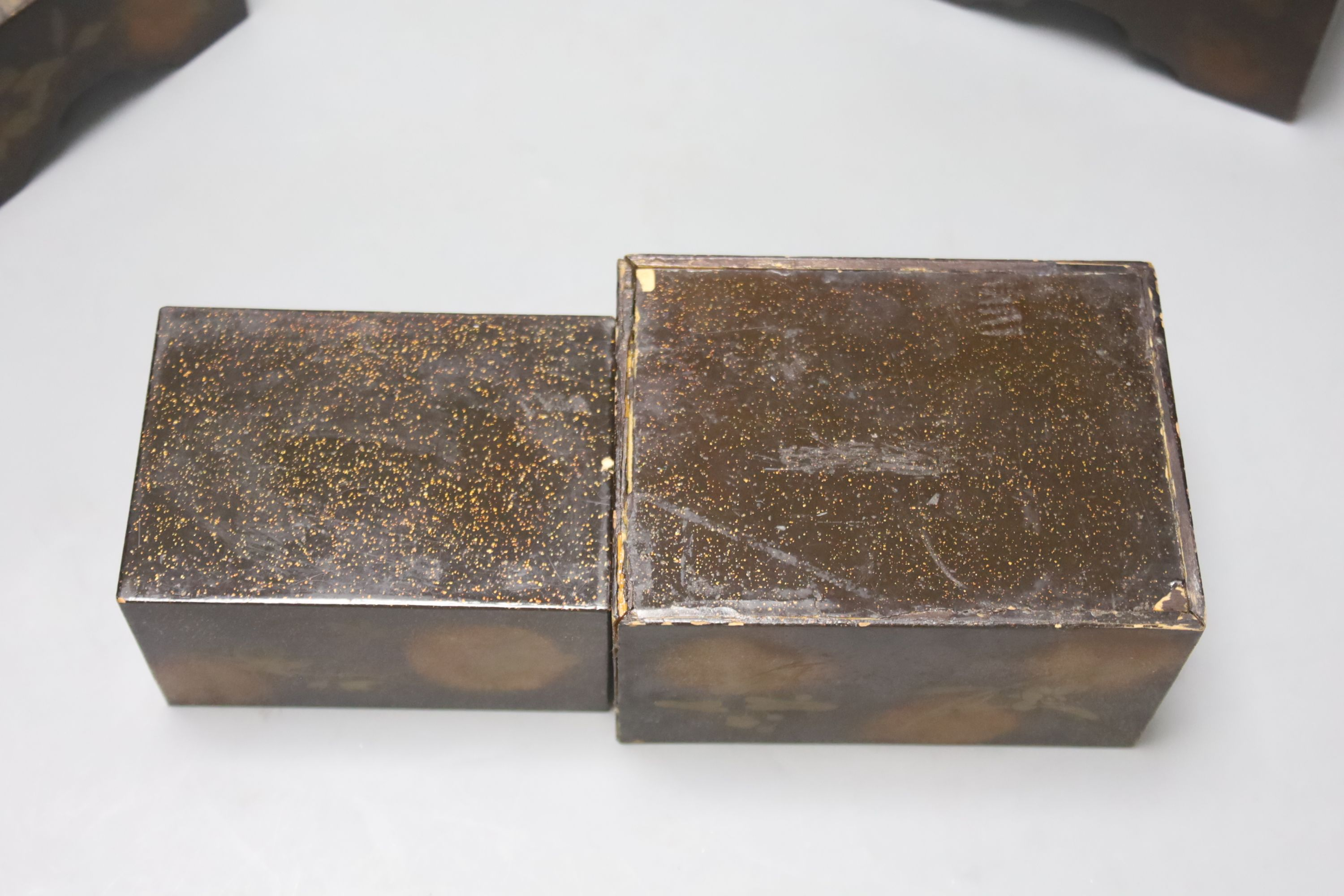 Two Japanese lacquer boxes, 19th century, largest 13.5cm - Image 4 of 4