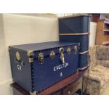 Two large cabin / luggage trunks, larger length 92cm, height 49cm