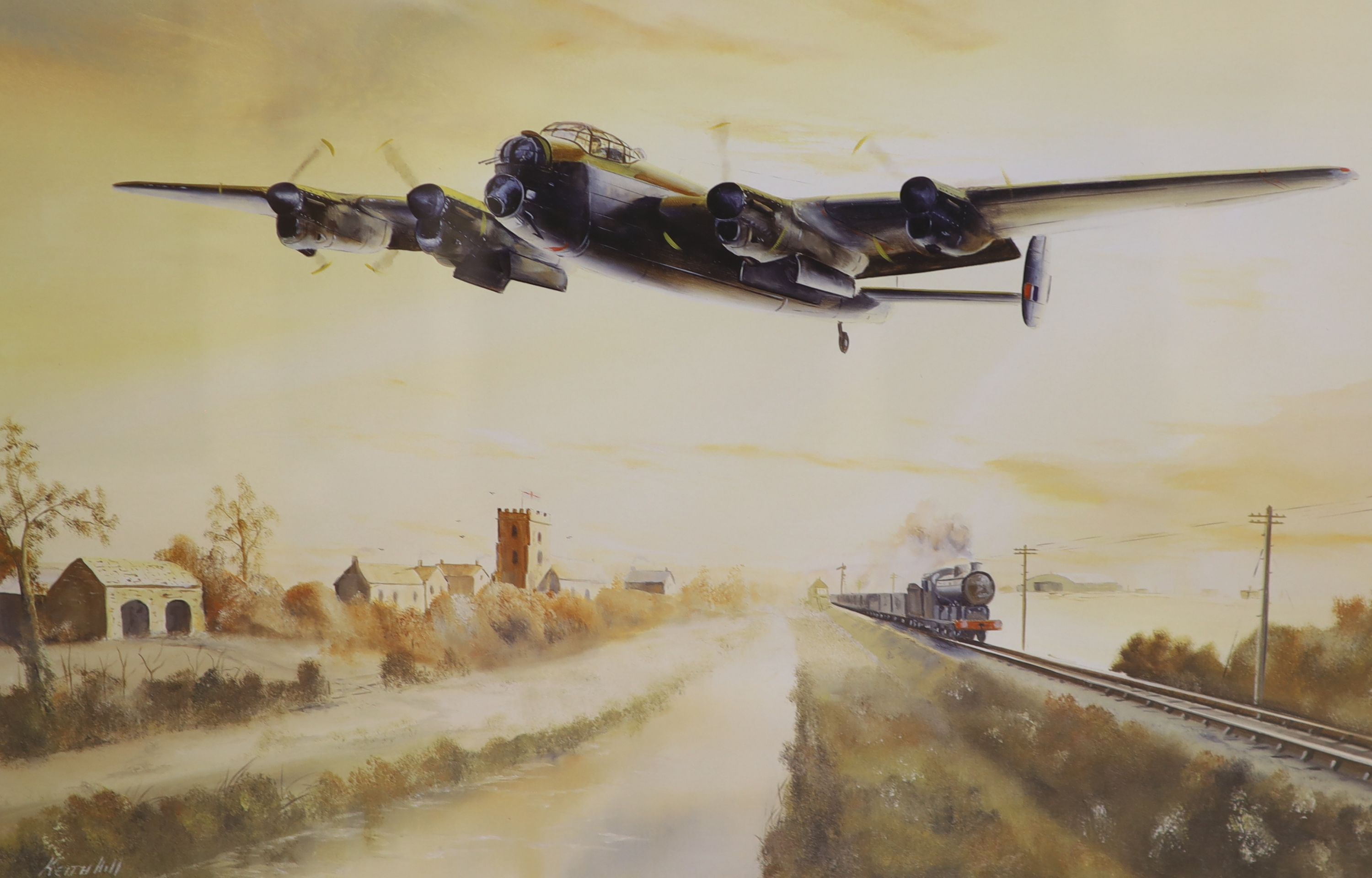 After Frank Wootton, limited edition coloured print, 'Battle Over London 1940', signed in pencil - Image 2 of 4
