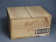 A case of six Penfolds Grange, 2003, in wooden box.