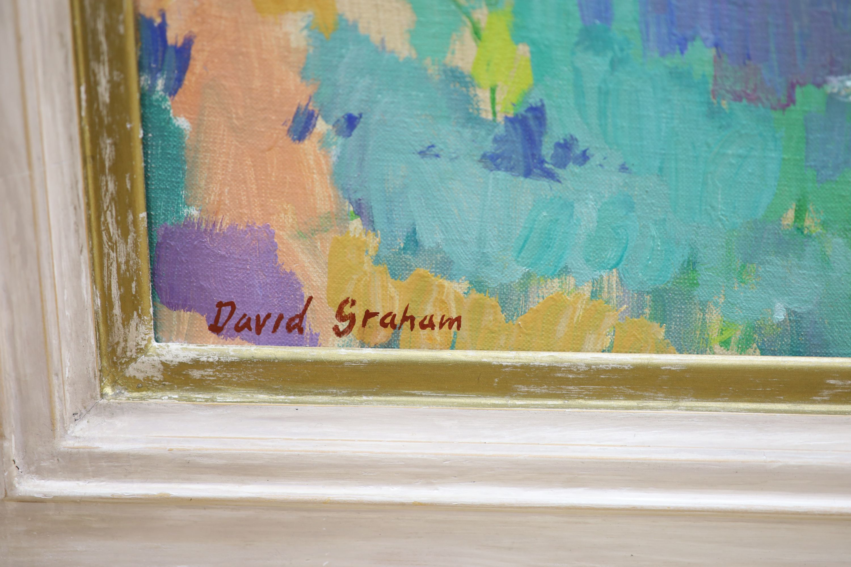 § David Graham, oil on canvas, Overlooking Jerusalem, signed, 48 x 54cm - Image 3 of 5