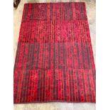 An Afghan flatweave rug, 195 x 134cm
