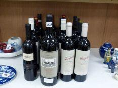 Nineteen assorted bottles of red wine including a magnum of Wynns Coonawarra Estate, 2002, Wolf