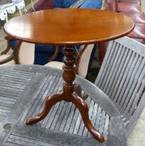 A 19th century style mahogany tilt top occasional table, 55cm