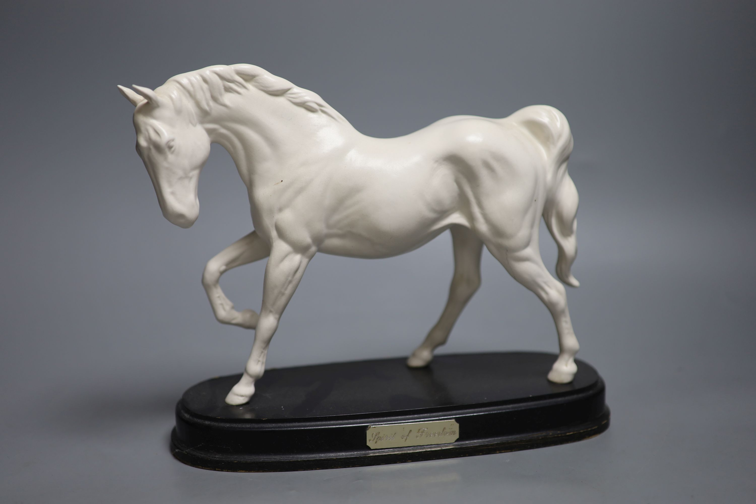 A Doulton silicon Lambeth planter, A Royal Doulton 'Spirit of Freedom' horse and a figural - Image 7 of 13