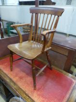 A Victorian ash and beech Windsor chair