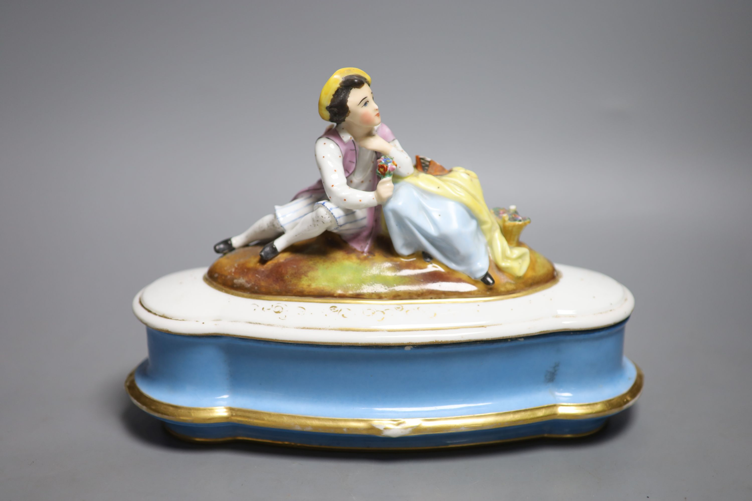 A Doulton silicon Lambeth planter, A Royal Doulton 'Spirit of Freedom' horse and a figural - Image 9 of 13
