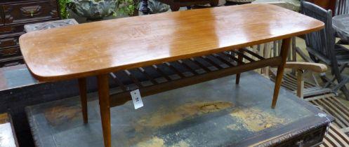 A 1960's teak coffee table, width 137cm