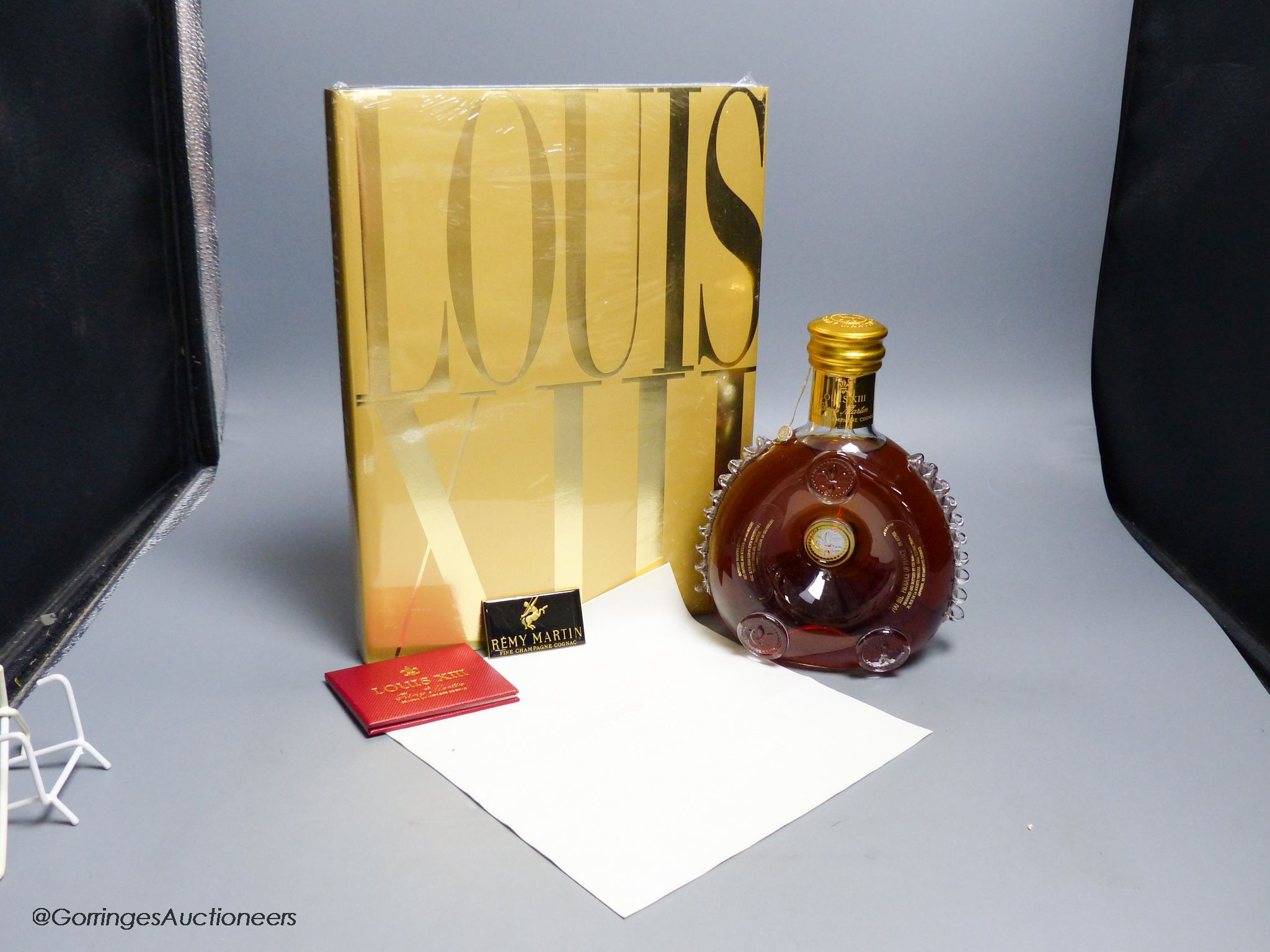 A sealed bottle of Louis XIII Remy Martin Grand Champagne Cognac, Carafe No.DJ9508, with original - Image 2 of 4
