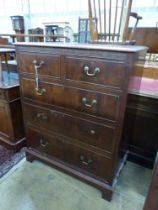 A Georgian style mahogany chest of five drawers, width 92cm