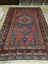 A Caucasian design red ground Kelim rug, 280 x 174cm