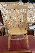 A beech Windsor chair