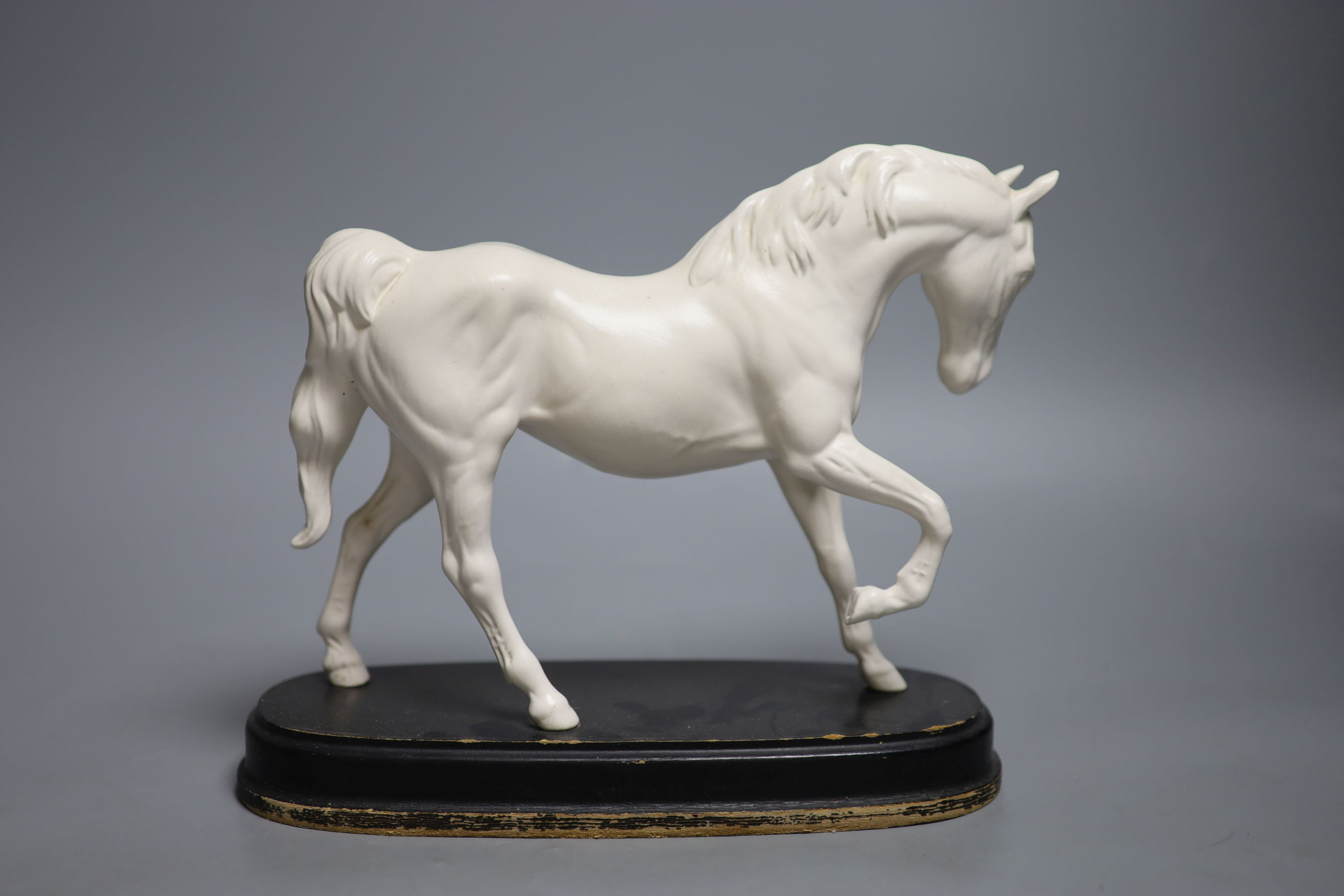 A Doulton silicon Lambeth planter, A Royal Doulton 'Spirit of Freedom' horse and a figural - Image 8 of 13