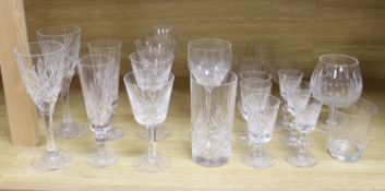 A quantity of Waterford crystal and other drinking glasses