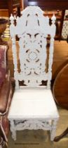 A 17th century style white painted side chair