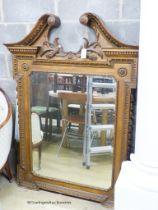 A Victorian George III style gilt overmantel mirror, W.106cm H.143cm