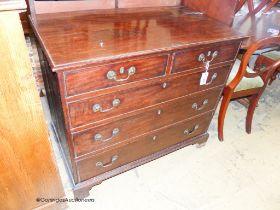 A George III mahogany chest, W.94cm D.53cm H.83cm