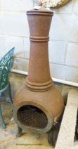 A cast iron chiminea, H.122cm