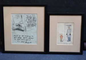 § Alfred Bestall, British, (1892-1986) two original bespoke drawings of Rupert The Bear, each