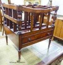 A Regency style mahogany Canterbury, width 43cm, depth 35cm, height 50cm