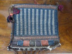 A Kelim saddle bag, 40 x 40cm