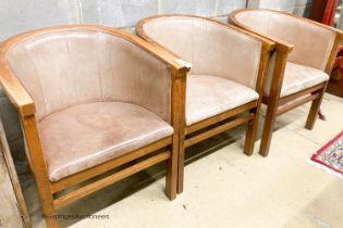 Three tub chairs