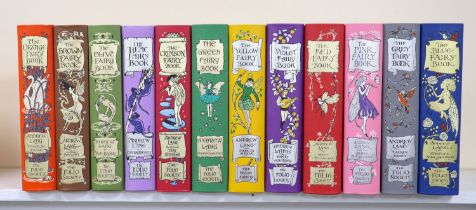 ° Lang, Andrew (Ed) -The Folio Society Rainbow Fairy Book Collection, Complete set of 12 volumes. (