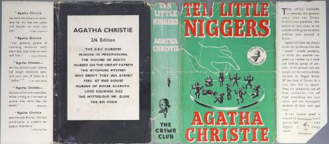 ° Christie, Agatha - Ten Little Niggers, 1st edition, 8vo, ad at rear for Hercule Poirot's Christmas