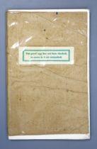 ° Betjaman, John, Sir - A Few Late Chrysanthemums, the authors uncorrected proof copy, 12mo, limp