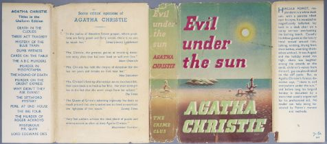 ° Christie, Agatha - Evil Under the Sun, 1st edition, 8vo, original cloth in unclipped d/j, tears to