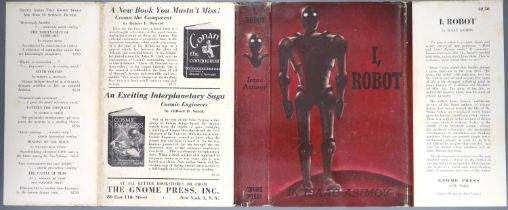 ° Asimov, Isaac - I, Robot, 1st edition, 1st printing, 8vo, original red cloth, slight stains to fly