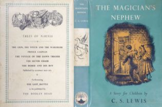 ° Lewis, Clive Staples - The Magician's Nephew, 1st edition, 8vo, illustrated by Pauline Baynes,