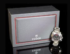 A gentleman's 2011 stainless steel Tudor Chronograph automatic wrist watch, on a stainless steel