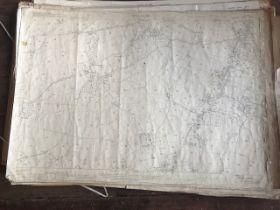 THIRTY 1:2500 ORDNANCE SURVEY MAPS relating to Stoke St Gregory, Stoke St Mary, Norton Fitzwarren,