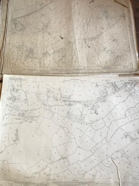 THIRTY 1:2500 ORDNANCE SURVEY MAPS featuring West Buckland, West Monkton, Dommett, Turlbear, Stoke - Image 7 of 16