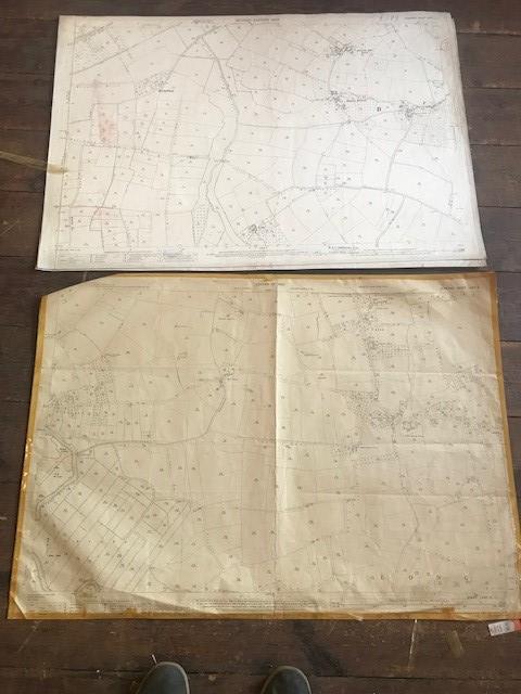 THIRTY 1:2500 ORDNANCE SURVEY MAPS featuring Upcott, Hillfarrance, Nynehead, Norton Fitzwarren, - Image 16 of 16